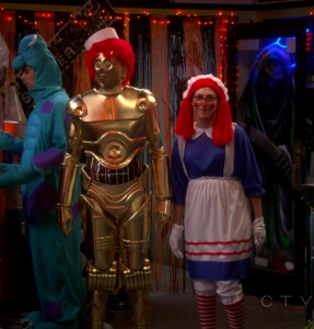Sheldon C3PO the big bang theory